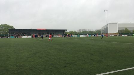 Action from Harlow Town vs Wingate & Finchley in the Bostik Premier (pic: George Sessions).