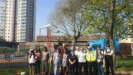 The community weapons sweep on the Nightingale Estate. Picture: Lucas Cumiskey