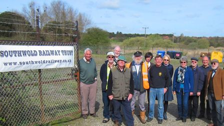 Volunteers at Blyth Road, April 2017. Photo: Courtesy of Southwold Railway Trust