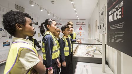 Children from Morningside School were the first to see the vaults