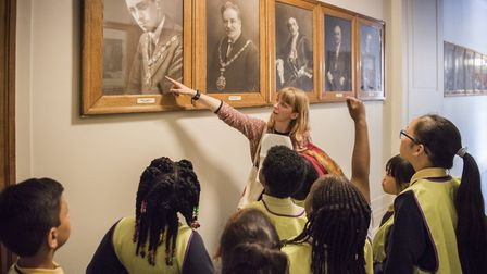 Kids from Morningside School were shown around the town hall