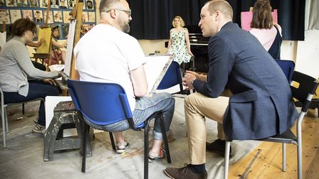 Prince William visits Core Arts in Homerton. Picture: Fran Monks