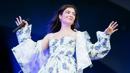 Lorde performs at All Points East on Friday night. Picture: Jordan Curtis Hughes