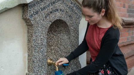 Refurbished historic water fountain re-opened at St Pancras International Station. Picture: St Pancr