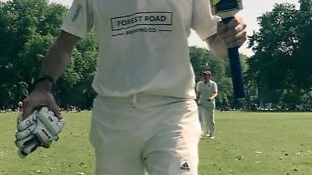 Richard Keep scored 77 not out for Hackney