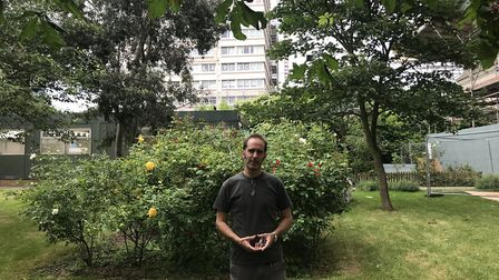 Jonathan Law. The council says the garden in which he is standing is not at risk of being lost to ho