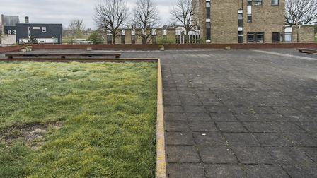 The area where the council wants to build. Picture: Sean Pollock/Hackney Council