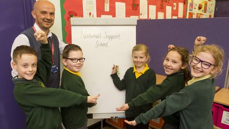 Oulton Broad Primary School has been approved as a National Support School. Pictured is headteacher