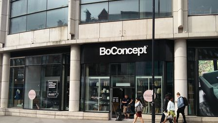 BoConcept on Finchley Road was broken into overnight for the second time this year. Picture: Sam Vol