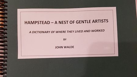 The front cover of 'Hampstead, a nest of gentle giants'