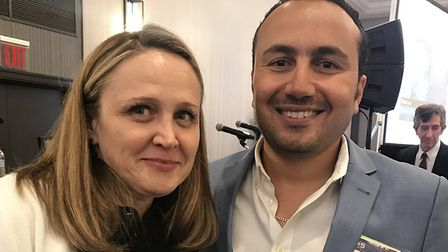 Dr Mohamed Abdelghani with TMS Society President Dr Michelle Cochran