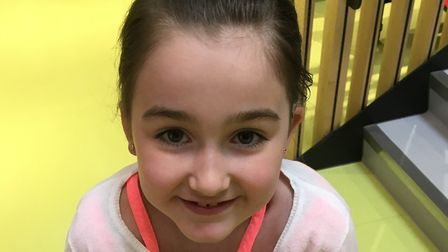 Lily Conlan has been fundraising for Loud Shirt Day. Picture: Angela Conlan