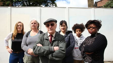 Morland Estate campaigners in 2013, when they were campaigning against the decision to sell the land