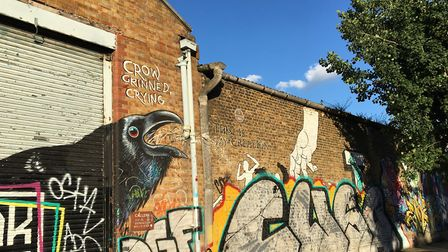 The birthplace of the world's first plastic, Parkesine, in Wallis Road, Hackney Wick. Picture: Emma