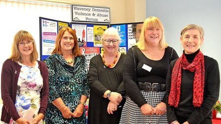 Committee members from the Waveney Domestic Violence and Abuse Forum at their AGM. Pictured from lef