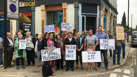 Neighbours protesting the redevelopment of the Leighton Arms in Kentish Town. Picture: Josephine Sie