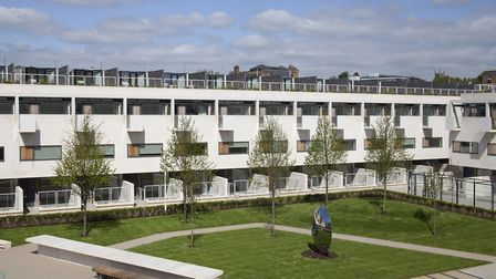 The garden at the centre of the award-winning Gabriel Square development in St Albans.