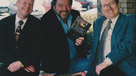 Co-author Paul Gainey, the late Jeremy Beadle and Stewart Evans. Picture: Stewart P Evans.