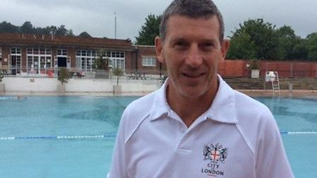 Camden-born Paul Jeal at the Lido today, where he has worked for 30 years.
