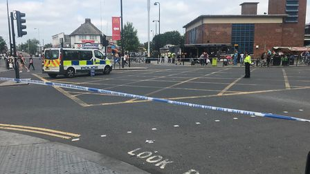 The scene at Turnpike Lane station in north London after the stabbing. Picture: Jack Hardy/PA Images