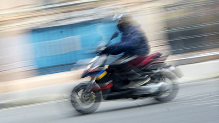 A stock image of a moped rider in London. Picture: Victoria Jones/PA