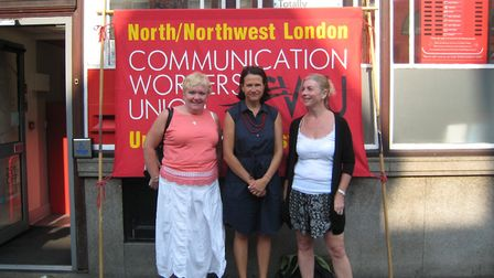 Hornsey and Wood Green MP Catherine West pictured last year with campaigners opposed to the UOE take