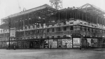Camden Town Hall on Judd Street during construction the mid-1930s. Picture: Courtesy of Camden Local
