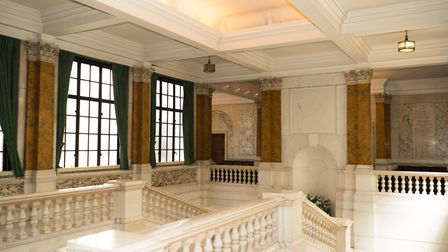 The imposing marble landing at Camden Town Hall. Picture: Siorna Ashby