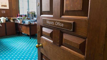The door to the plush Mayor's office was ajar. Picture: Siorna Ashby
