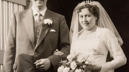 Mr and Mrs Chandler were married on March 1, 1958. Picture: Supplied