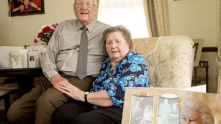 To mark the occasion, Mr and Mrs Chandler received a card from tne Queen. Picture: Nick Butcher