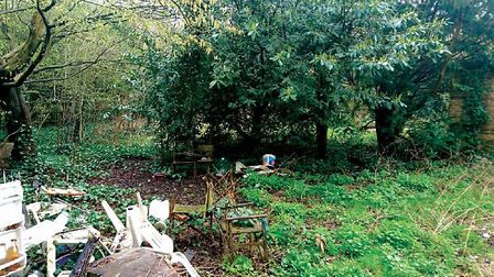 The plot that Harry Hallowes owned on Hampstead Heath. Picture: Savills