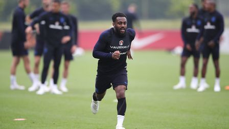 England's Danny Rose during a training session (pic Nick Potts/PA)