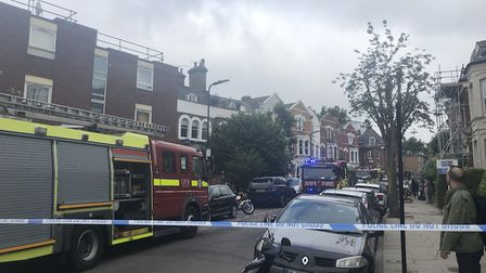 Clissold Crescent taped off this morning. Picture: @999London