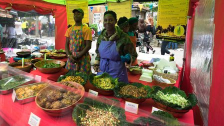 Rainforest Creations food stall