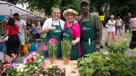 Members of the Highgate Horticultural Society show off their plants