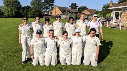 Hampstead's women's second-team face the camera (pic: Hampstead Cricket Club).