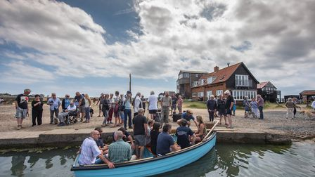 The new Walberswick Ferry, 'Boy Charlie', was launched in July 2017. Photo: Steve Adams