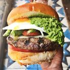 'Ridiculous': The Hand of God burger at Shoreditch's Blues Kitchen. Picture: The Columbo Group