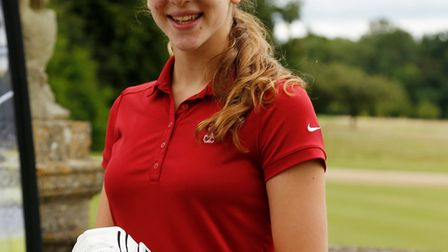 South Hampstead's Olivia Rael-Brook at the American Golf Long Drive Ckampionship at Heythrop Park,
