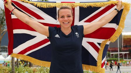 Kate Richardson-Walsh was Team GB's flag bearer for the closing ceremony at the 2016 Rio Olympics af
