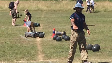 Military fitness assault courses tested young wannabes at the Give It A Go festival. Picture: City o