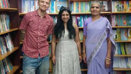 Sanchita Basu de Sarkar with her colleagues Themba Mkhize and Meena Jethwa. Picture: Sophie Cheng