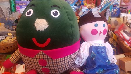 Humpty and Jemima toys from BBC's Playschool at Kristin Baybar's Toyshop in Gospel Oak. Picture: Har