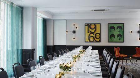 The Whitestone function room at the Marriott in Maida Vale, named after the Hampstead Heath pond