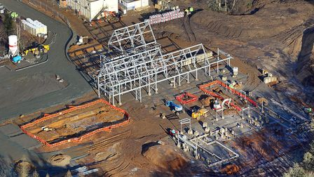 An aerial view of the new nook hospice being built for East Anglia's Children's Hospices. Picture: M