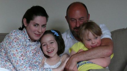 The Ross family (L to R): Cliodhna, Issy, Stuart and Ollie. Picture: Cloidhna Ross