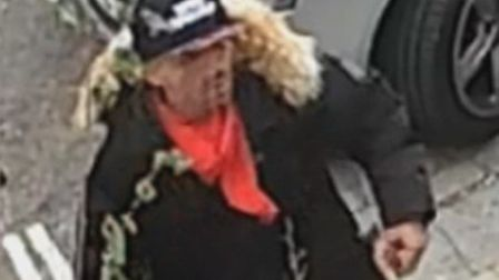 The arson suspect in last week's Clissold Crescent fire. Picture: Met Police