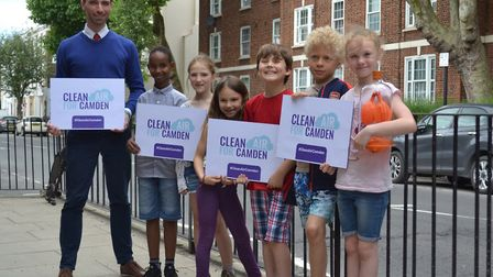 Pupil from Torriano Primary walked to school on Clear Air day. Picture: CAMDEN COUNCIL