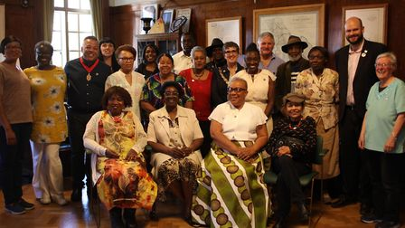 Elders in the community with Cllr Anntoinette Bramble and mayor Phil Glanville at the Windrush Day e